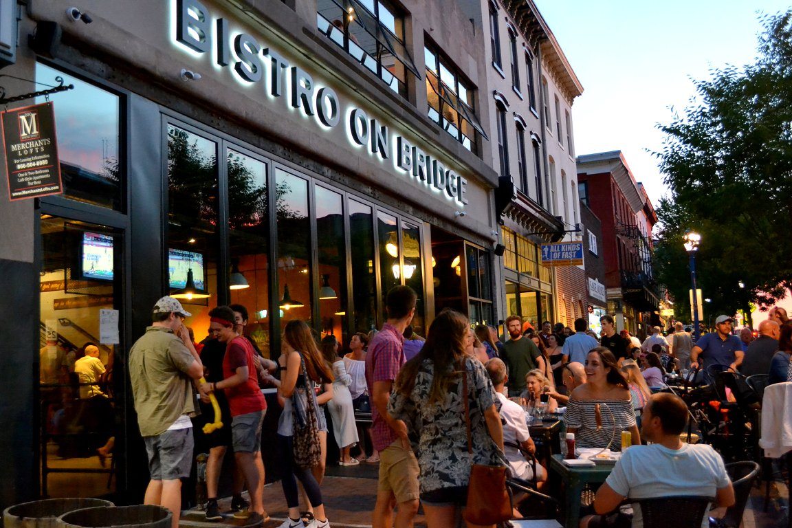 The All New Bistro on Bridge on a First Friday.