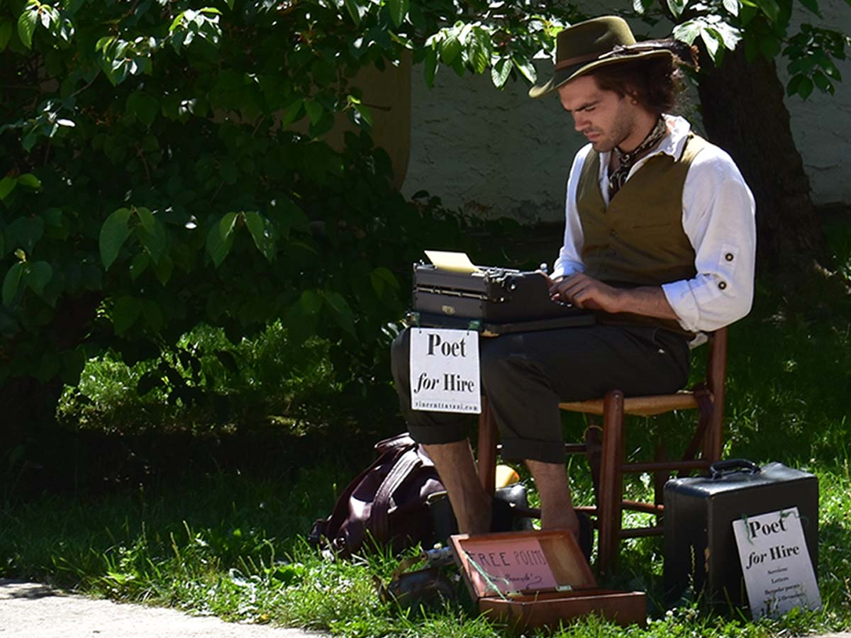 Poet for Hire at the Phoenixville Farmers Market