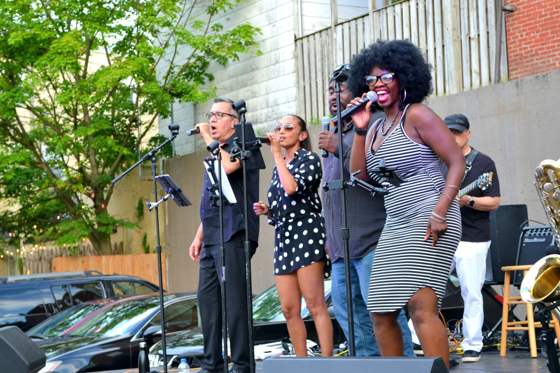 """""""Elle and the John Doe Band"""" rocked the big stage during Phoenixville First Fridays on July 5, 2018!"""