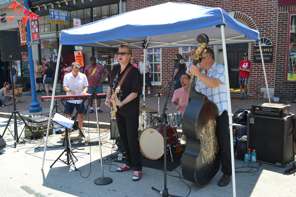 Live Music from Dibbs and the Detonators at the Phoenixville Blobfest Street Fair.