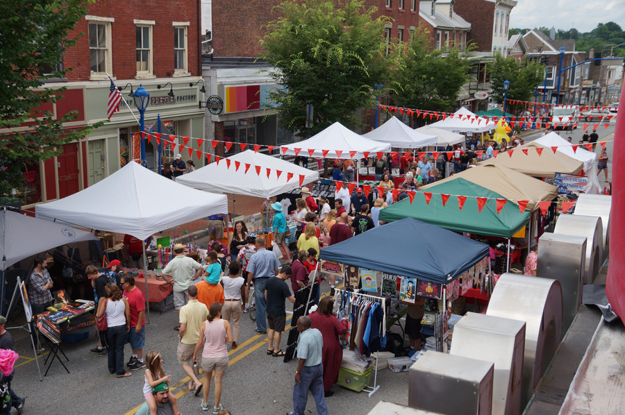 Street fair during the Phoenixville Blobfest