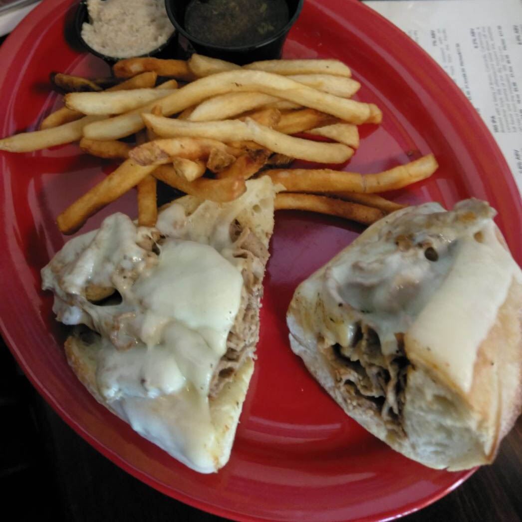Roast Beef Sandwich at Sly Fox Brewpub