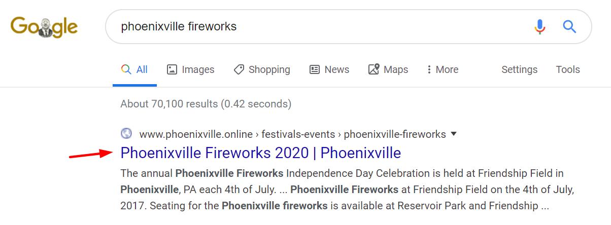 Phoenixville Fireworks